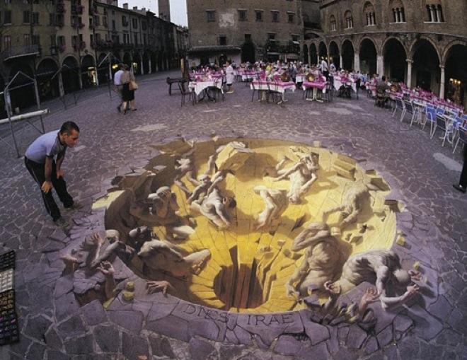 16. Incredible 3d anamorphic illusions Julian Beever