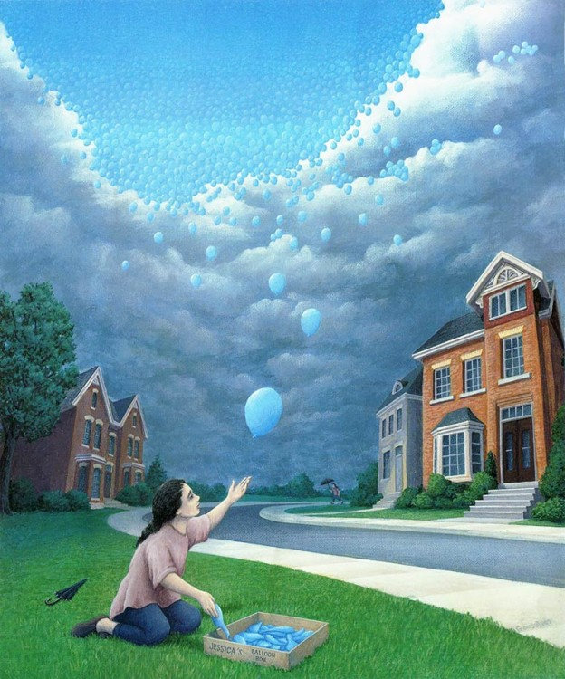 16. Rob Gonsalves Optical Illusion Painting