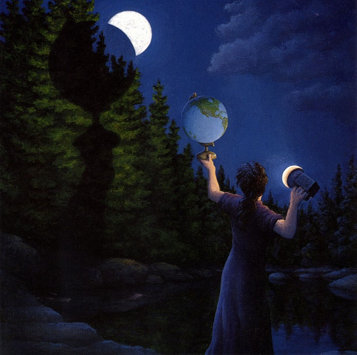 19. Rob Gonsalves Optical Illusion Painting