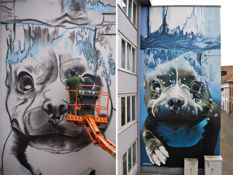 2. diving-dog-street-art-mural-smates-bart-smeets-5