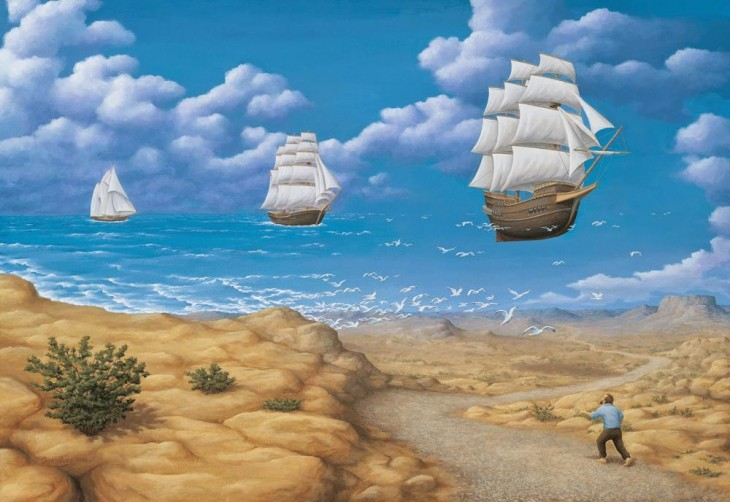 22. Rob Gonsalves Optical Illusion Painting