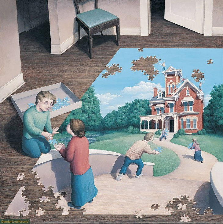 24. Rob Gonsalves Optical Illusion Painting