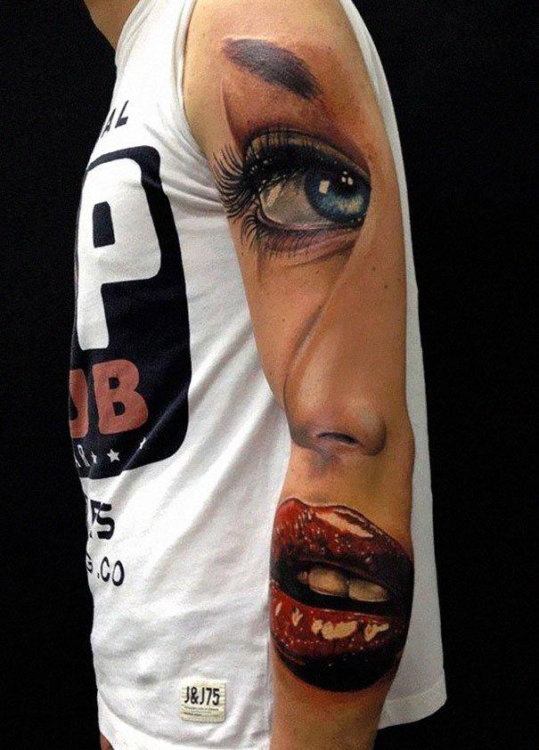 40. 3d tatto art