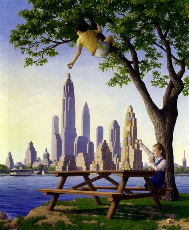 7. Rob Gonsalves Optical Illusion Painting