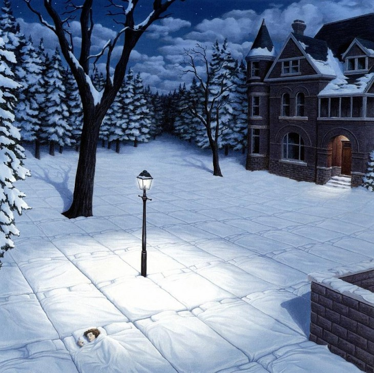 9. Rob Gonsalves Optical Illusion Painting