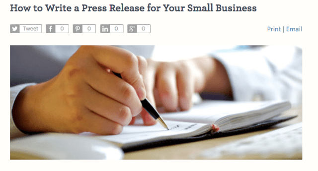 writing a press release