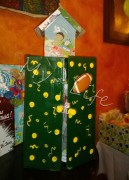 wardrobe and birdhouse