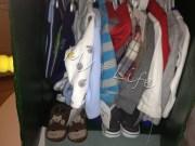 wardrobe filled