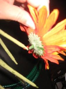 pop flowers off stems