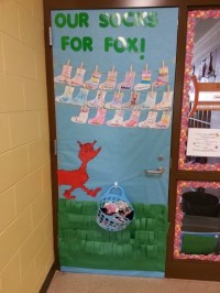 Fox in Socks classroom door   My Attempts at Being Creative!