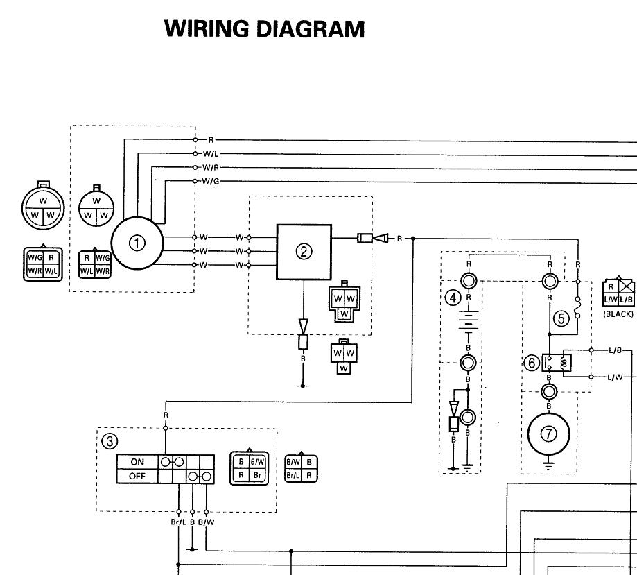 1994 Yamaha Warrior 350 Wiring Diagram