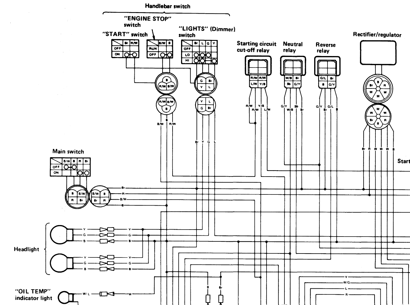 Yamaha 350 1988 Wiring Diagram