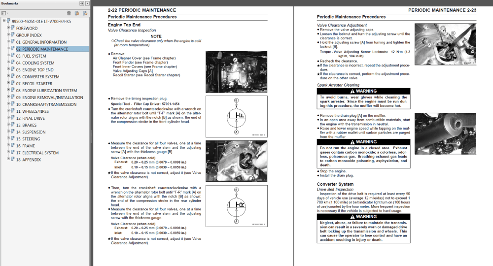 medium resolution of 2004 2005 suzuki lt v700f twin peaks 700 repair service manual myatvmanual