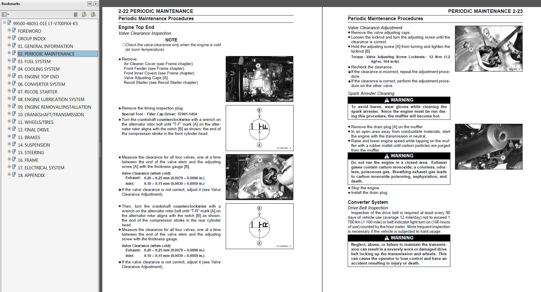 hight resolution of 2004 2005 suzuki lt v700f twin peaks 700 repair service manual myatvmanual