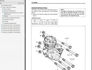 1987-1989 Suzuki LT300E, LT-F300 Quadrunner Service Manual