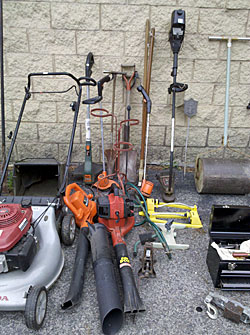 The drudgery tools of yard work  gardening  Auction Finds