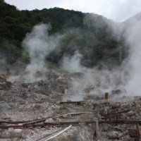 Pilgrimage to the hell, Unzen hot spring, Nagasaki
