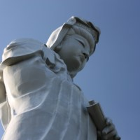 Takasaki Kannon, a huge white statue of goddess
