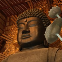 Daibutsu, a Huge Statue of Buddha at Todaiji temple in Nara
