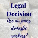 Massachusetts Au Pair Legal Decision
