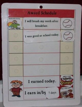 Daily Visual Reward Charts