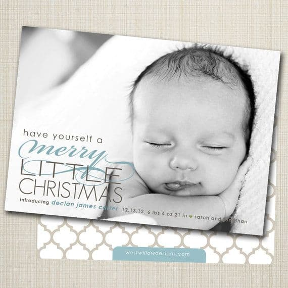 Birth Announcement Christmas Card 12