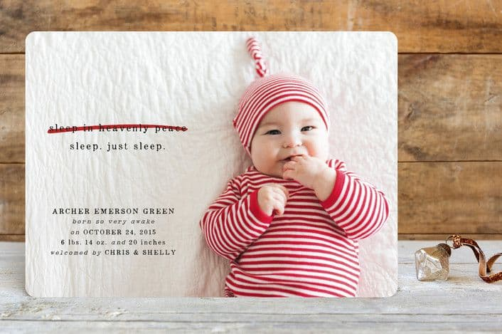 Birth Announcement Christmas Card 13