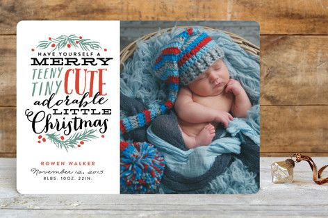 Birth Announcement Christmas Card 18