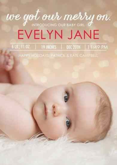 Birth Announcement Christmas Card 5