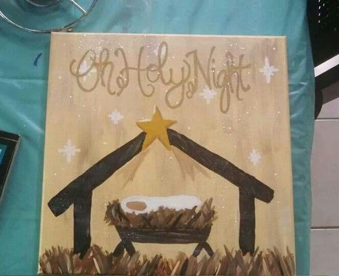 Christmas Canvas Painting 4