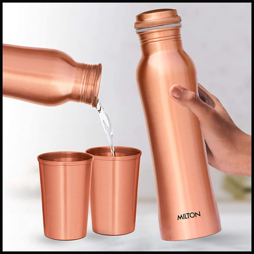 Milton Copperas Gift Set of 3 with two tumblers