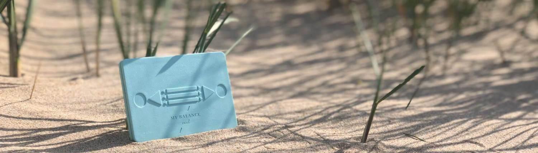 My Balance Card on the beach