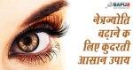 नेत्रज्योति बढ़ाने के लिए कुदरती आसान उपाय   Herbal remedies to increase Eyesight naturally