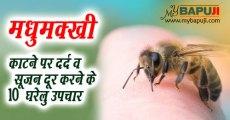 मधुमक्खी ततैया काटने पर दर्द व सूजन दूर करने के 10 घरेलु उपचार   Madhumakhi katne per Gharelu Upchar