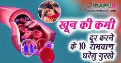 खून की कमी दूर करने के 10 रामबाण घरेलु नुस्खे | Khoon Ki Kami Ko Dur Karne Desi Nuskhe in hindi