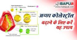 अच्छा कोलेस्ट्रॉल बढ़ाने के लिए करें यह उपाय   Acha Cholesterol ( HDL ) Badhane ke Upay