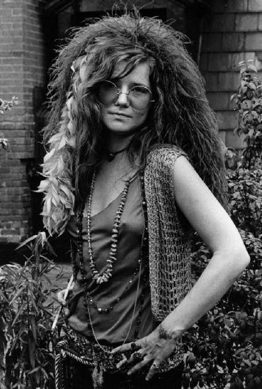 A cantora Janis Joplin | Crédito da imagem: via bohogenesis.blogspot.com