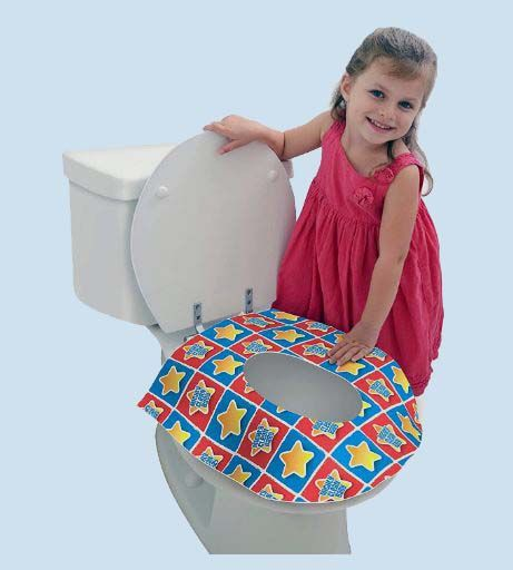 24 Large Disposable Toilet Seat Covers - Portable Potty Seat Covers for Toddlers