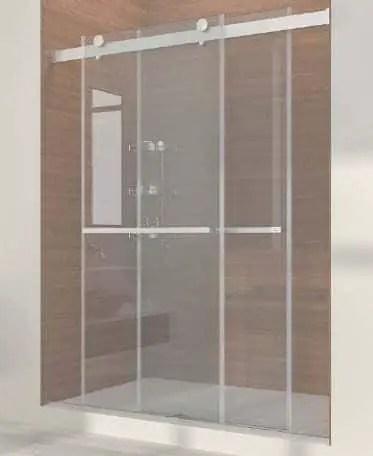 Dual-sliding Frameless Shower Doors