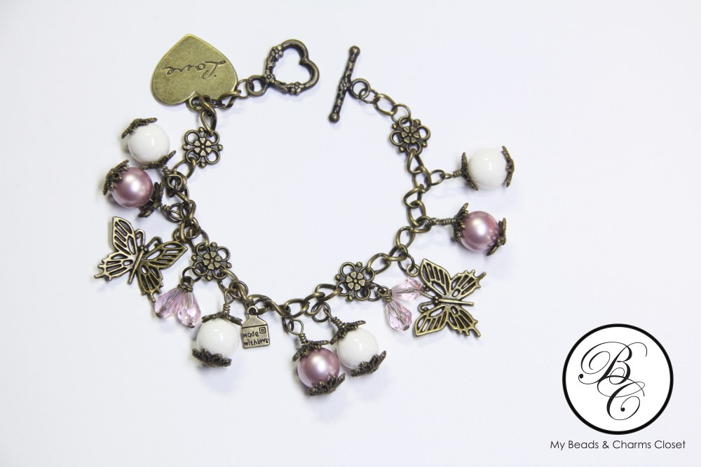 Autumn Series Inspired Charm Bracelet - Powder Rose (1/4)
