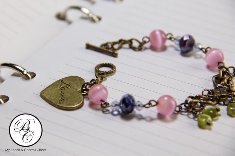 Berries Inspired Vintage Charm Bracelet #VS0010 (2/3)
