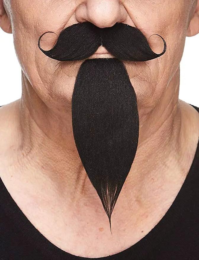 Jack Sparrow Pirate Viking Beard /& Mustache Set Black NEW Lace pieces