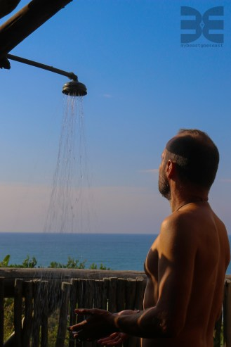 Dusche mit Aussicht