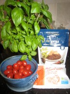 Ingredients for a delicious and very quick lunch