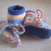 Sally-boots for a friend's new baby