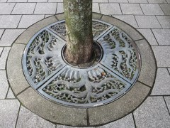 Delightful design around the base of each tree