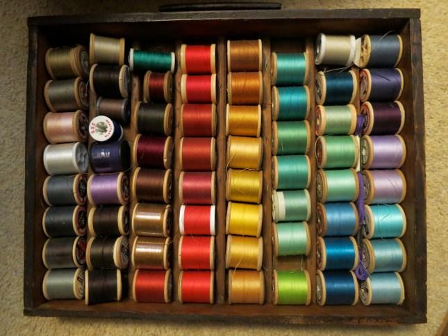 Mum's rainbow cotton threads