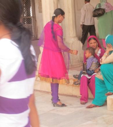 Beautiful saris in India