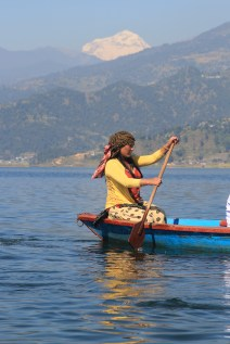 On the lake at Pokhara