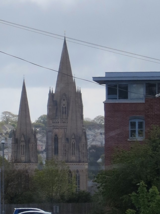 Truro Cathedral from the bus